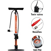 Diswa 160PSI Portable Road Bike Bicycle Floor Pump Hand Air Pump Tire Inflator (Color Send As Per Available)
