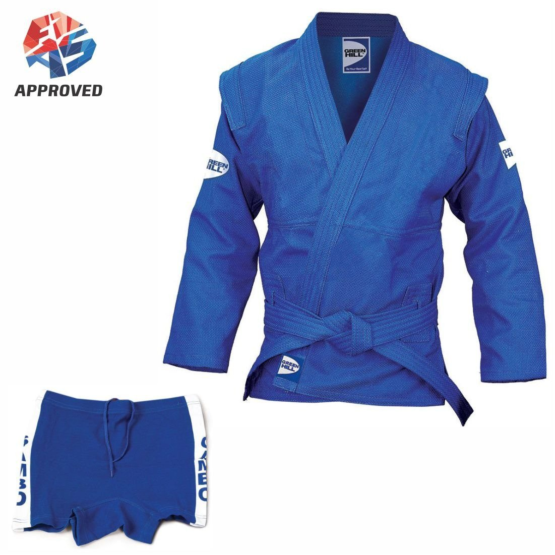 GREEN HILL MultiPurpose FIAS Approved Sambo Suit, Sambo Full Uniform Ideal for Sambo Competition, Training and Martial Arts Greenhill Sports