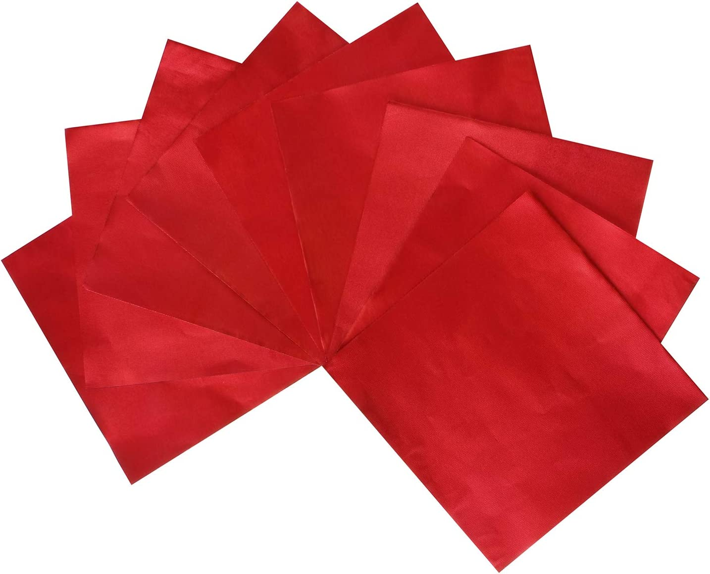 Webake 4 x 4 Inch Square Aluminium Foil Candy Wrappers Candy Wrapping Paper for DIY Chocolate, Fudge and Brownies Packaging-100 Piece (Red)