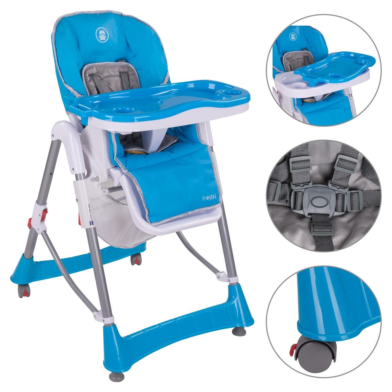 Froggy® Kinderhochstuhl BHC01 zusammenklappbar in Blau