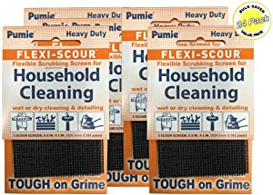 Pumie Flexi-Scour - Bulk Saver Pack of 48 - Flexible Scrubbing Screen for Household Cleaning, 5.5