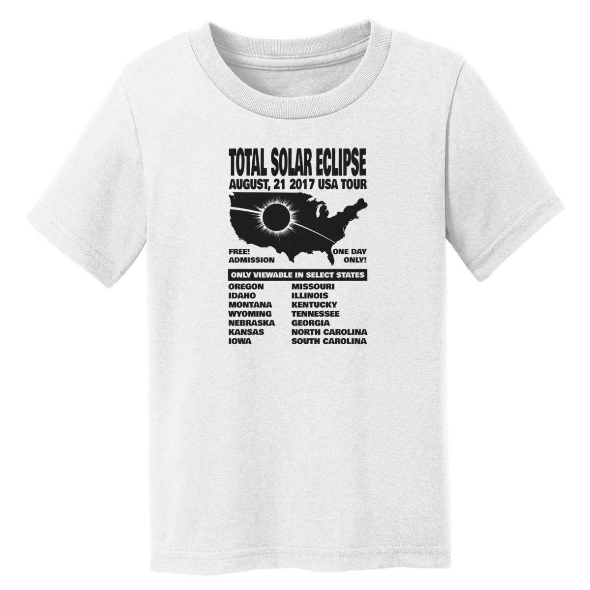 Digital T-Shirt Shop Baby-boys Total Solar Eclipse US Tour