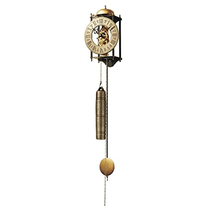 Design Toscano The Templeton Regulator Steampunk Decor Wall Clock, 26 Inch,  Metalware, Bronze