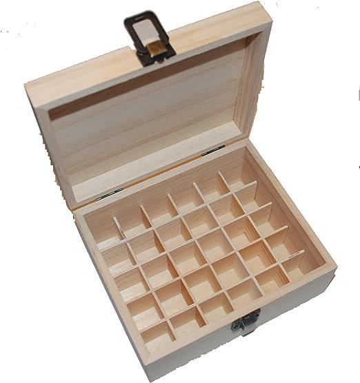 Caja de madera para aceites esenciales 30 compartimentos: Amazon ...