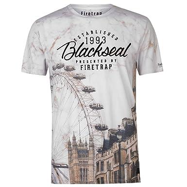 3b5146a4477 Firetrap Mens Blackseal London T Shirt