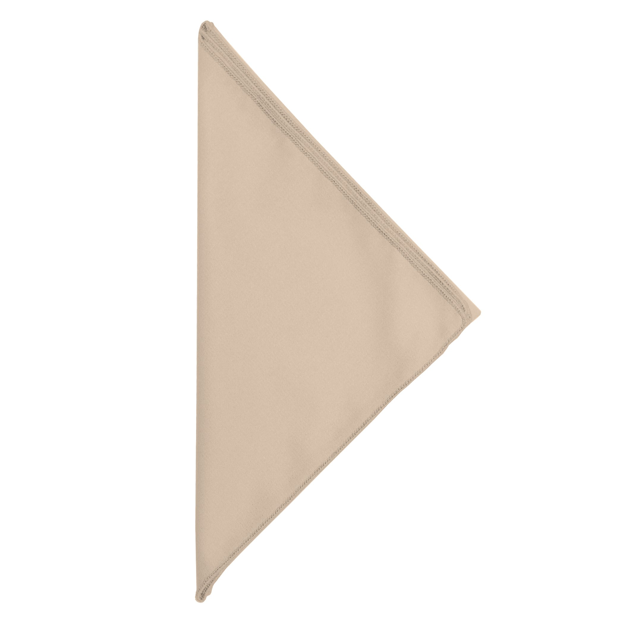 Ultimate Textile -10 Dozen- Poly-Cotton Twill 10 x 10-Inch Cloth Cocktail Napkins, Beige by Ultimate Textile