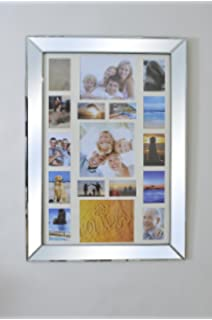 beautiful mirror frame multi picture photo collage 3ft6 x 2ft6 106cm x 76cm new - Mirrored Picture Frame