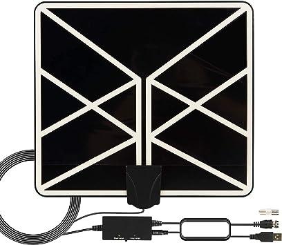 Antena de TV Interior 2020 más Nueva 120-150 Millas de Tiempo de Funcionamiento HDTV Digital con Amplificador de Señal 4K 1080p VHF UHF