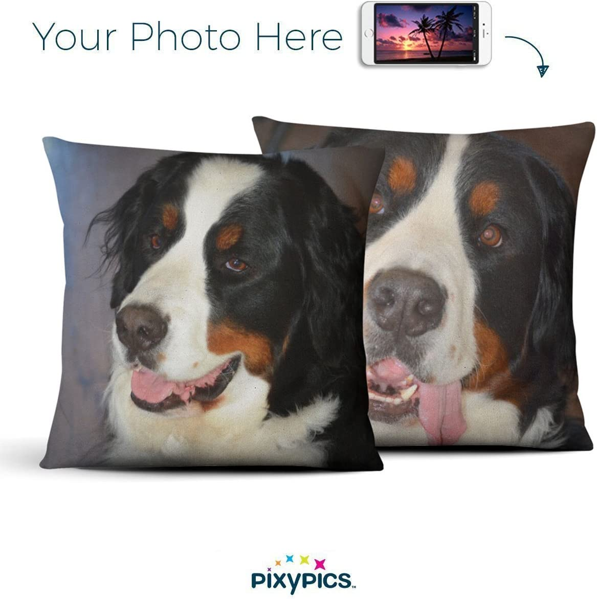 Amazing Custom Indoor Photo Pillows Your Photo Printed on Vibrant and Beautiful Photo Pillows with Insert Hidden Zipper 26 x26