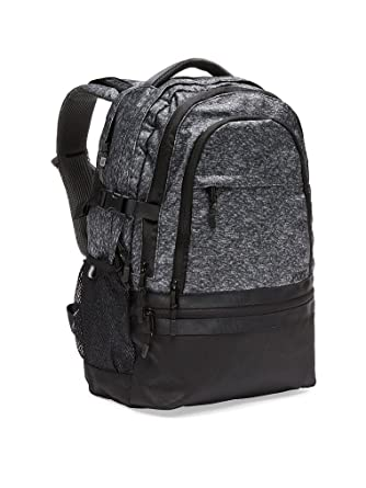 Amazon.com: Victoria's Secret PINK Collegiate Backpack Black Marl ...