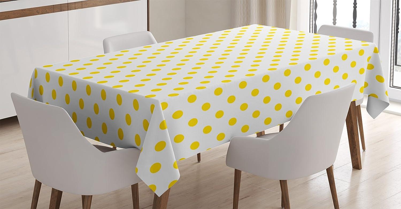 Amazoncom Ambesonne Yellow Decor Tablecloth Picnic Like Cute 50s