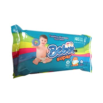 BEBIN SUPER BABY WIPES 40 COUNT, 24 PACKS IN A CASE