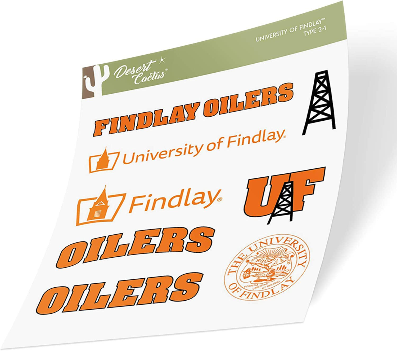 University of Findlay UF Oilers NCAA Sticker Vinyl Decal Laptop Water Bottle Car Scrapbook (Type 2 Sheet)