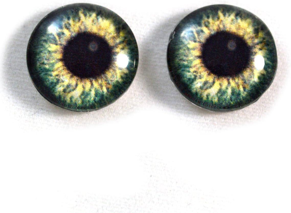 Yellow Snake Eyes Glass Taxidermy Realistic Eyeball 16mm Set
