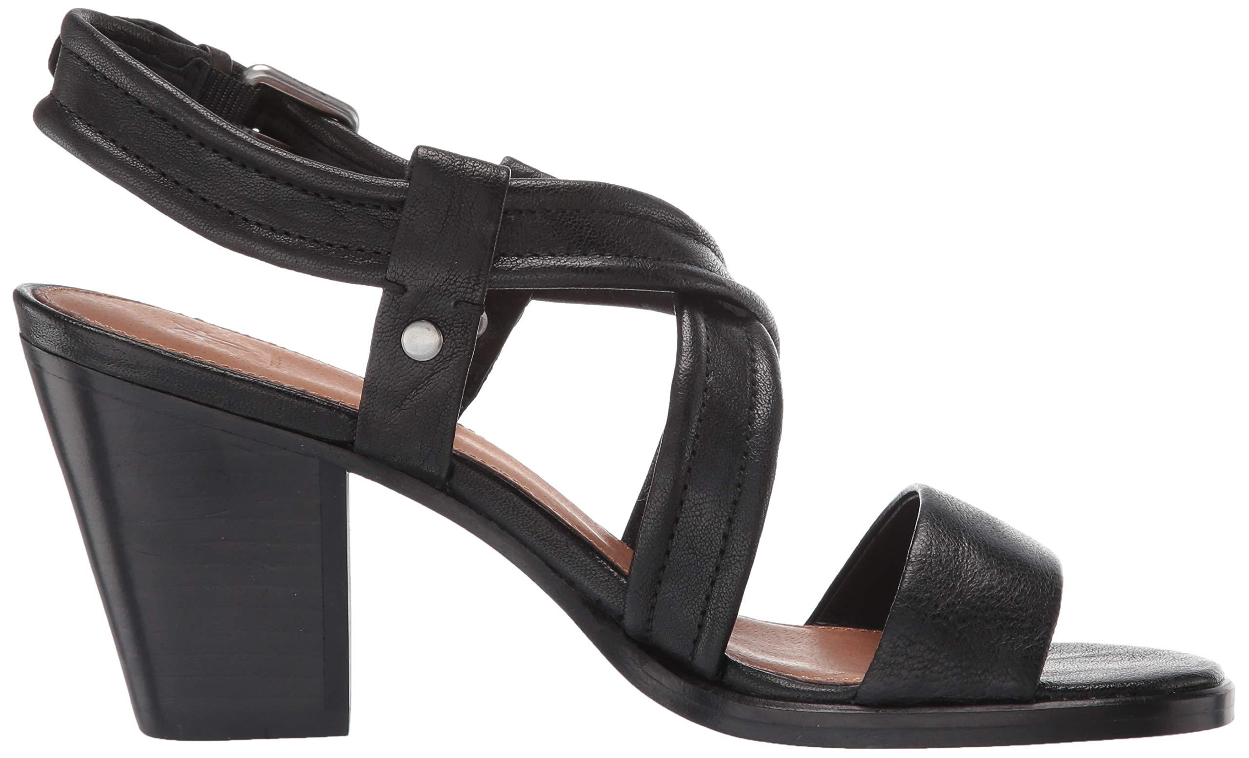 Frye Women S Dani Criss Cross Flat Sandal Black Choose