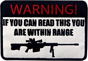 If You Can Read This You are Within Range Tactical Military Morale Applique Fastener Hook & Loop Patch