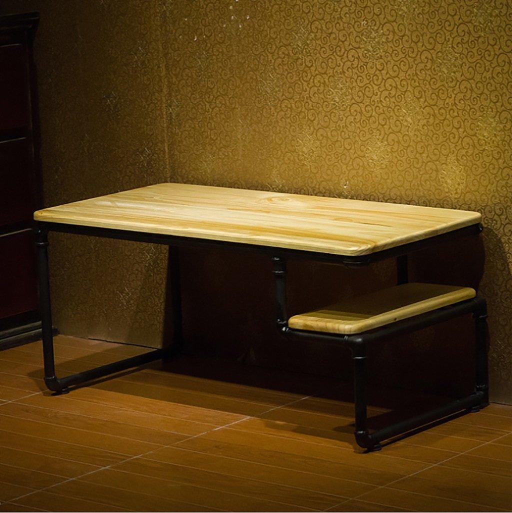 アメリカンヴィンテージコーヒーテーブルクリエイティブ鉄の木製コーヒーテーブルLOFTリビングルーム長方形カジュアルコーヒーテーブル B07F81J2QP