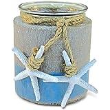 Puzzled Ocean Breeze Pillar Candle Holder Nautical Décor - Beach Theme - Unique Gift and Souvenir - Item #9432