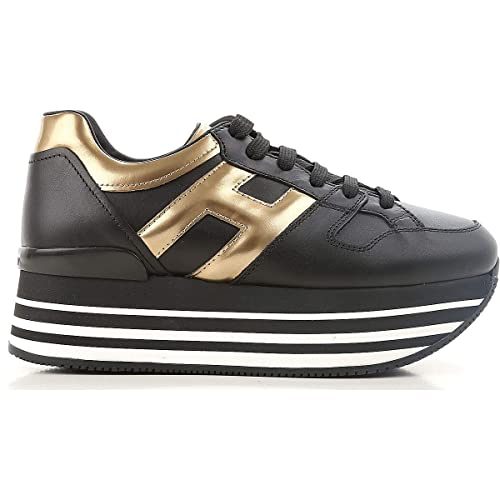 Hogan Scarpe Donna Maxi H222 Platform Sneakers Running Nero  HXW2830T548JDS0JK7  MainApps  Amazon.it  Scarpe e borse 67ea02d9375