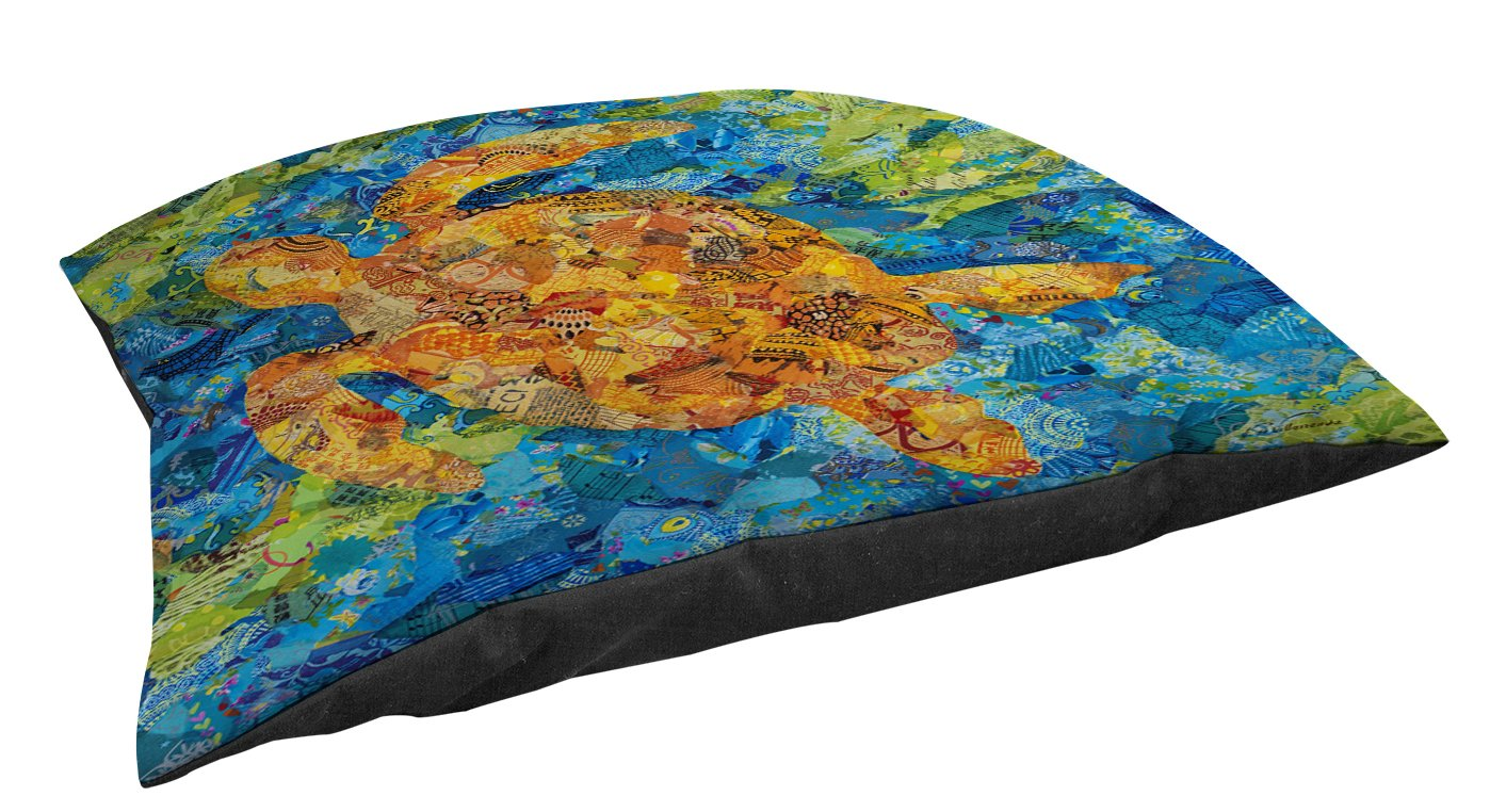 Manual Woodworkers & Weavers Indoor/Outdoor Large Breed Pet Bed, Mosaic Sea Turtle, Multi Colored