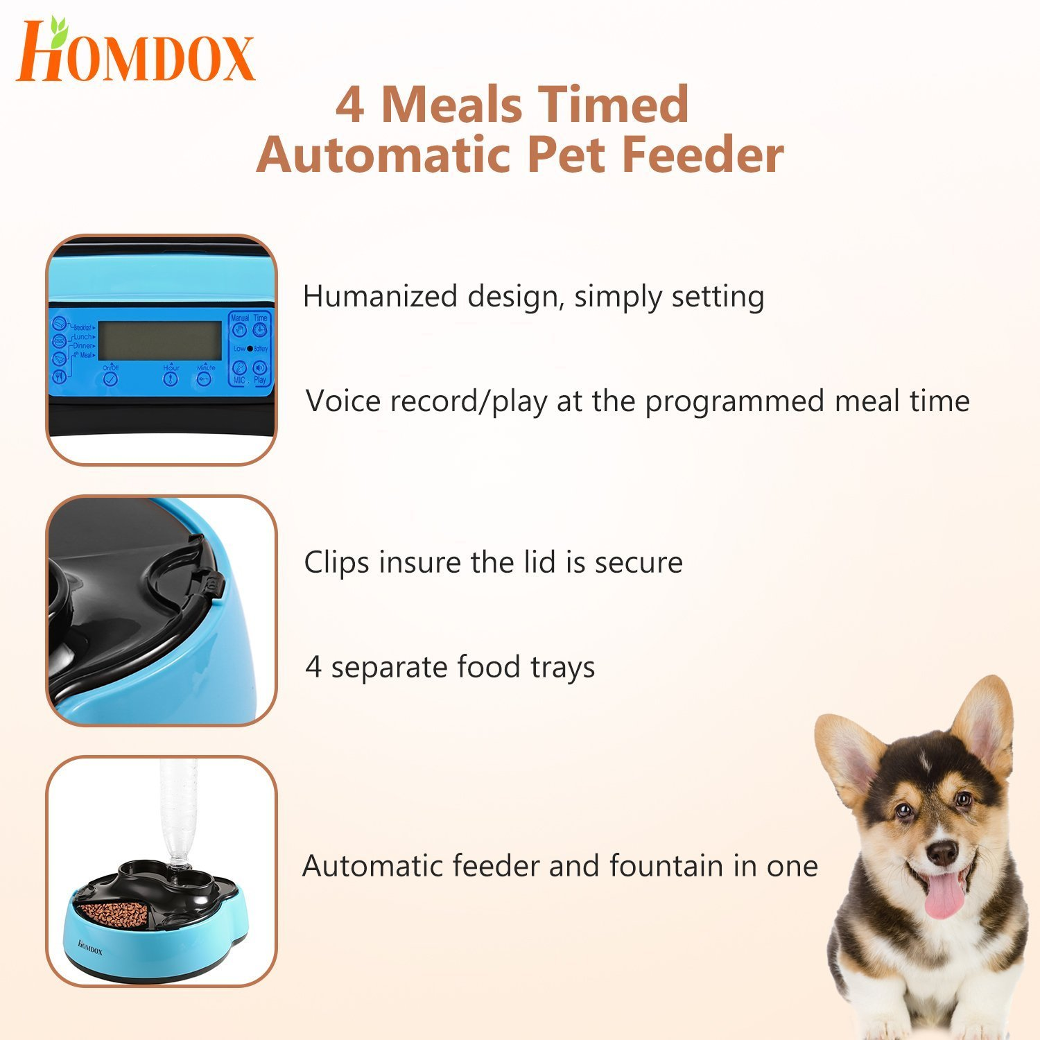timer blue container puppy dog lcd meals supplies animal bowls pin with station pet trays cat food programmable feeder electronic automatic water flexzion