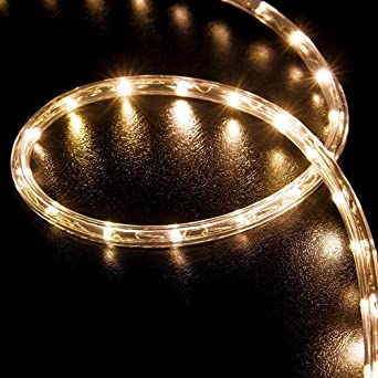 Amazon wyzworks 50 feet warm white 38 led rope lights crystal amazon wyzworks 50 feet warm white 38 led rope lights crystal clear pvc tube ip65 water resistant flexible 2 wire accent holiday christmas party mozeypictures Image collections