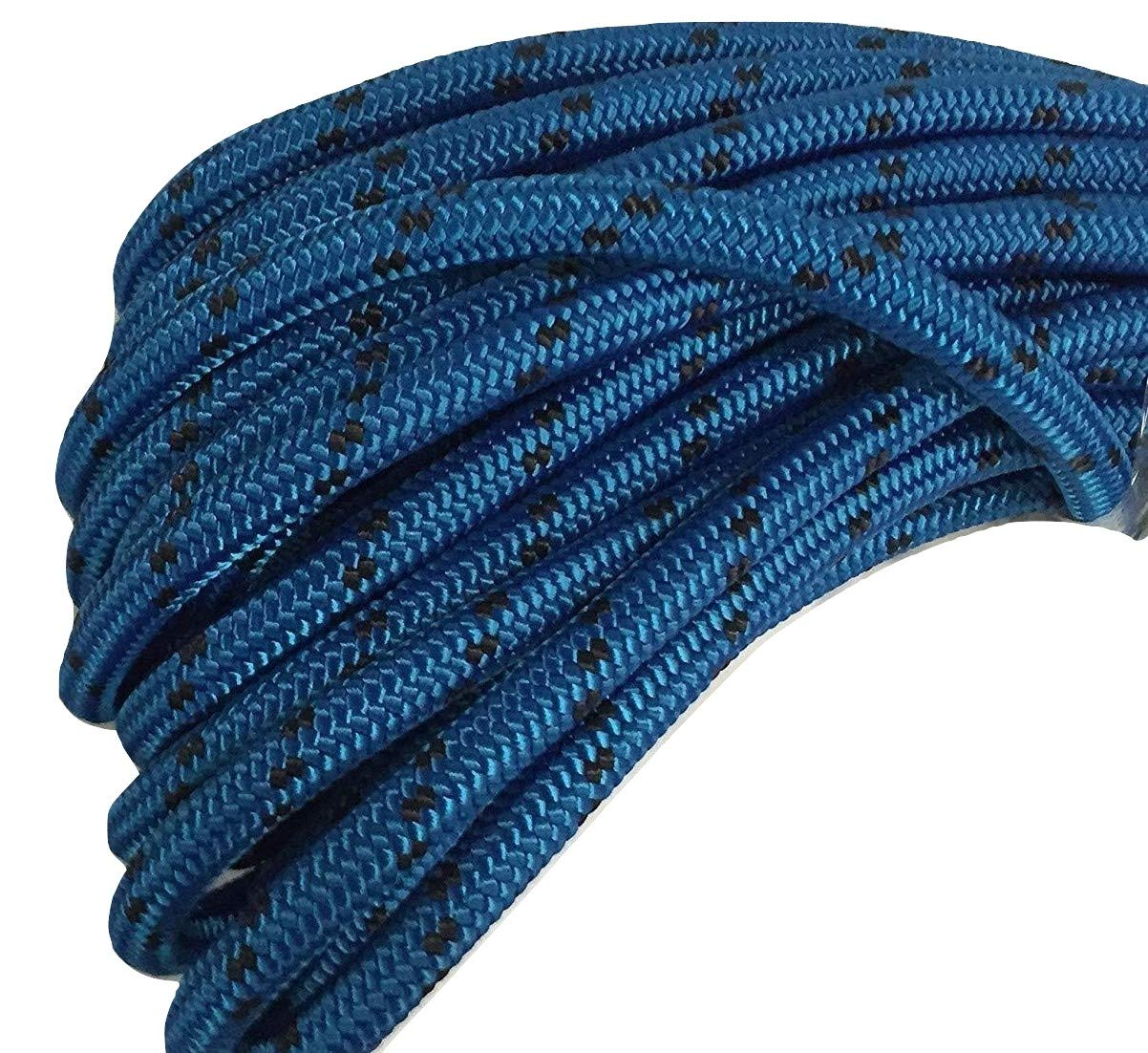 5/8'' X 150' Double Braid Polyester Arborist Bull Rope, Blue/Black by Blue Ox Rope