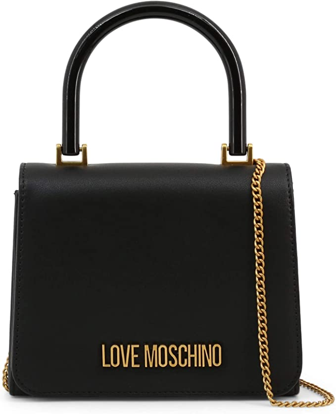 Love Moschino Womens Top Handle Cross Body Bags Handbag Black One Size:  Amazon.co.uk: Clothing