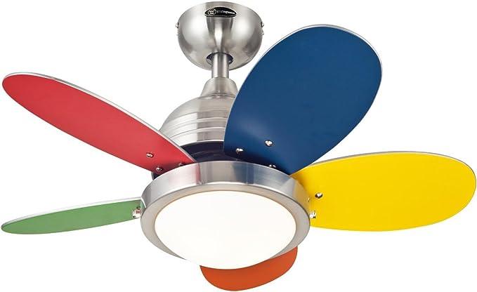 Integrated Westinghouse Lighting FANTASTIC Ceiling Fan Brushed Nickel Metal 17.5 W