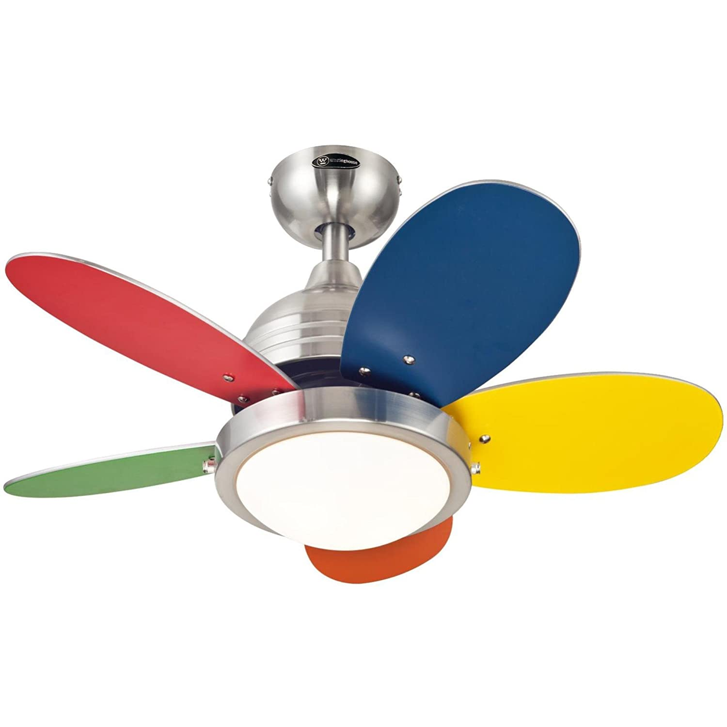 Roundabout 30 Inch Brushed Nickel Indoor Ceiling Fan Light