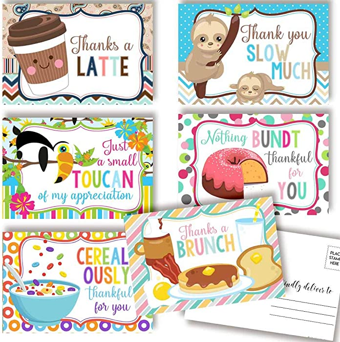 Top 9 Thank You Card Food
