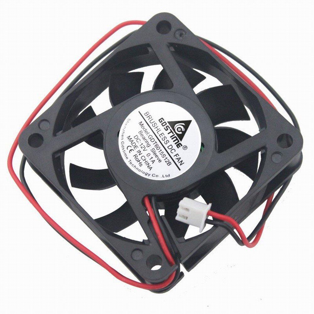GDSTIME 60mm x 60mm x 15mm 12v Brushless Dc Cooling Fan