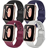 Tobfit 4 Pack Compatible with Apple Watch Band 38mm 42mm 40mm 44mm, Soft Silicone Replacement Band Compatible with…