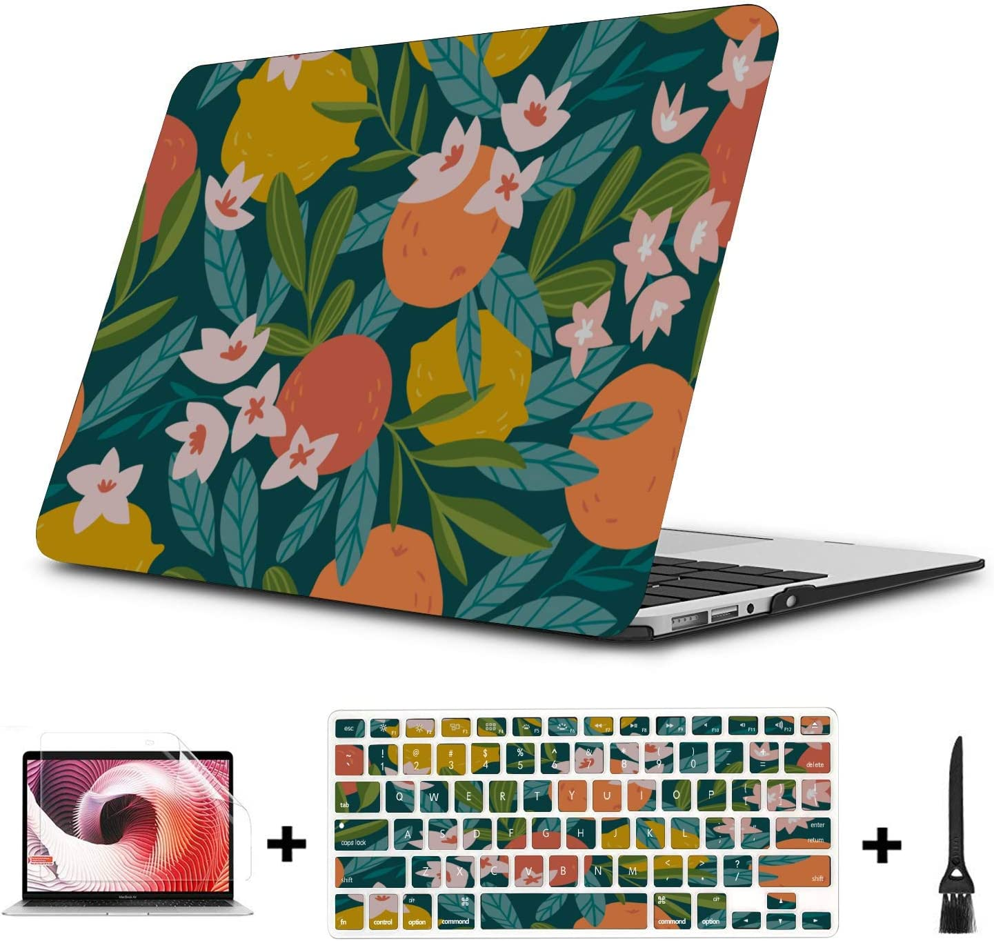 Protective MacBook Pro Case Summer Retro Sweet Sour Orange Tree Plastic Hard Shell Compatible Mac Air 11 Pro 13 15 Mac Book Air Cover Protection for MacBook 2016-2019 Version