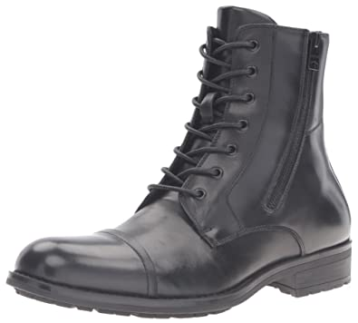 Kenneth Cole REACTION Men's Single Mind Combat Boot, Black, ...