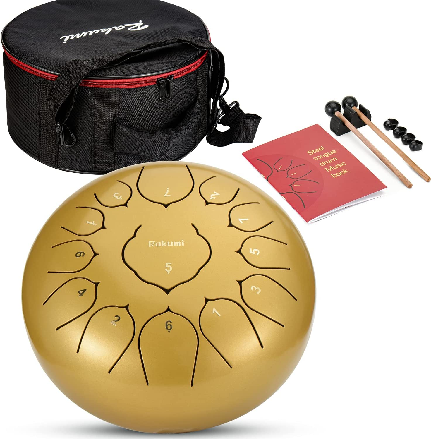 Steel Tongue Drum-12 Inch Cheap mail order specialty store 13 Percussion Ha Lotus Instrument Note 25% OFF