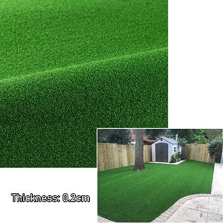 MAHFEI Césped Artificial Césped Jardín Césped Aspecto Realista Césped Falso De Alta Densidad Suave Mirada Natural Y Realista Altura De Pila De 0.2cm Césped Artificial (Color : Green, Size : 2x8m): Amazon.es: