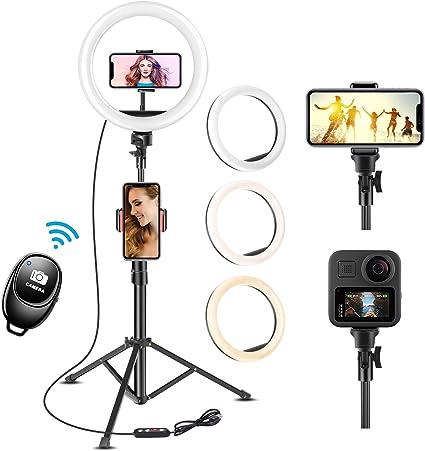 Uphitnis 10 Inch Selfie Ring Light With 63 Inch Tripod Camera Photo