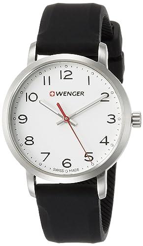 dbe5cbaa8679 WENGER Reloj Analogico para Unisex de Cuarzo con Correa en Silicona  01.1621.103  Amazon.es  Relojes