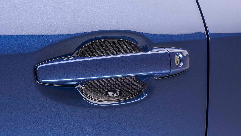 Carbon Fiber Car Accessory Fits Subaru Door Handle Scratch Guards 2 pcs New USA