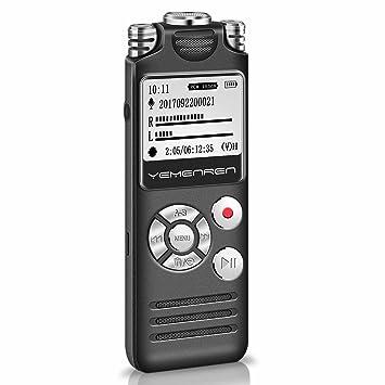 Digital grabadora de voz activado, yemenren 8 GB Grabadora ...