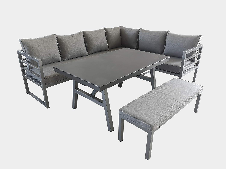 Mandalika Garden Wetterfeste Outdoor Sunbrella Dinning Lounge Leeds rechts, hoher Tisch