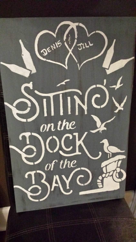 Cartel personalizado de perro de la bahía, casa de campo, playa, lago signo, día de la madre, regalo de pareja, anfitriona, regalo de inauguración de la casa