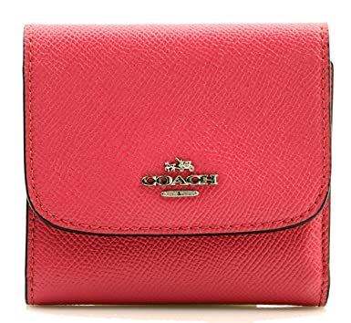 12c1af8ac681f Image Unavailable. Image not available for. Color  COACH Crossgrain Leather  Small Wallet in Magenta