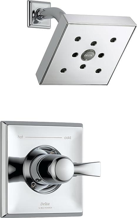 Delta t14251-h2o Dryden embellecedor de ducha paquete con sola función ducha cabeza, H2