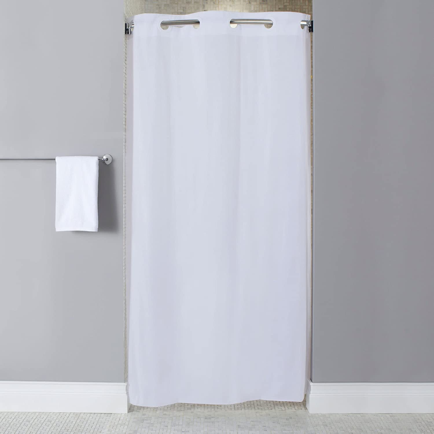 Amazon Shower Curtain White 74 In L 42 W Home Kitchen