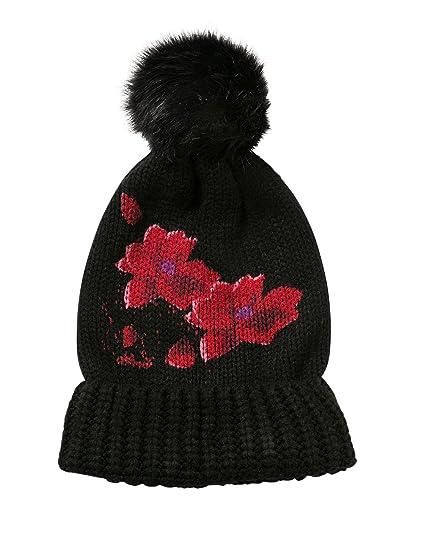 official shop on feet at shop best sellers Desigual Red Hat Chapeau Noir Fleurs