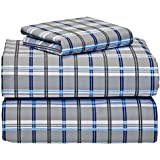 gibson plaid 3 piece twin xl sheet set for college dorm bedding