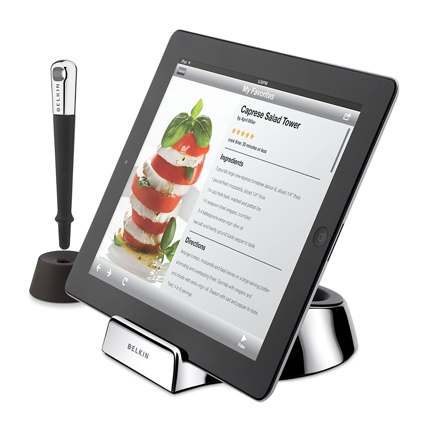Amazon.com: Belkin Kitchen Stand and Wand / Stylus for Tablets: Computers &  Accessories
