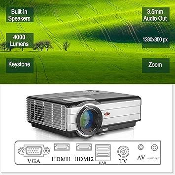 Proyector Cine en Casa de LED 4000 Lúmenes con Zoom, HD Nativo ...